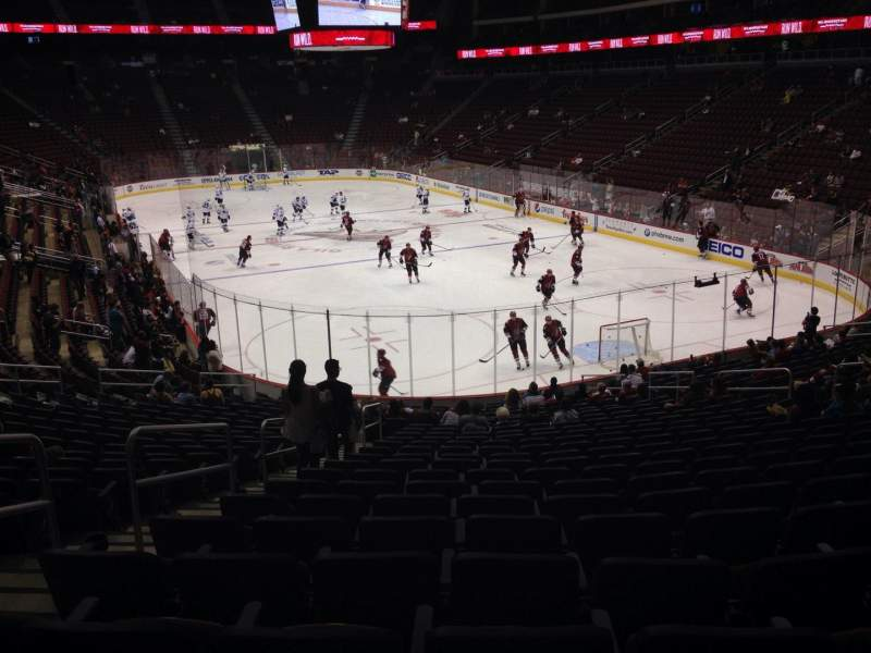 Seating view for Gila River Arena Section 118 Row T Seat 22