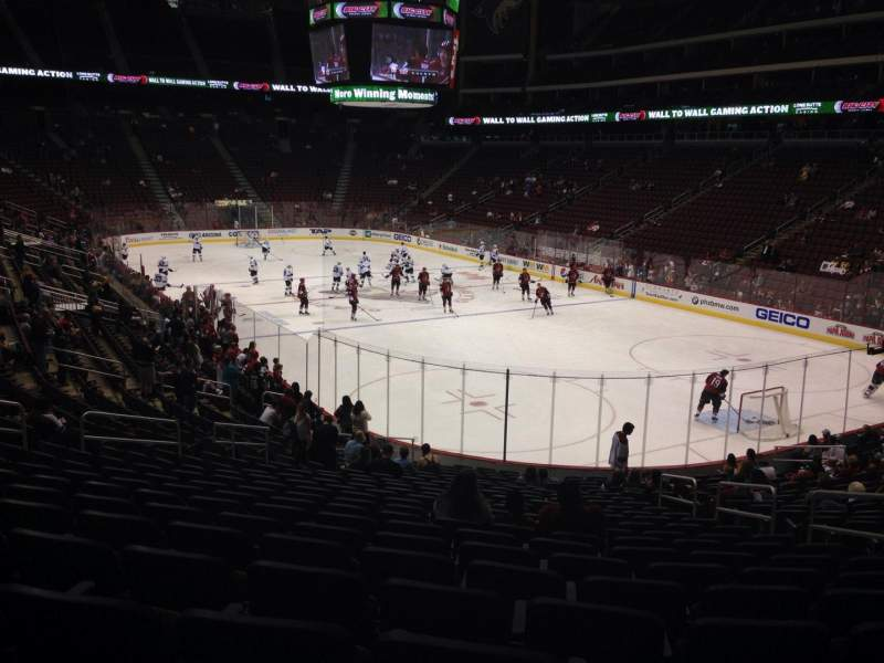 Seating view for Gila River Arena Section 119 Row T Seat 5