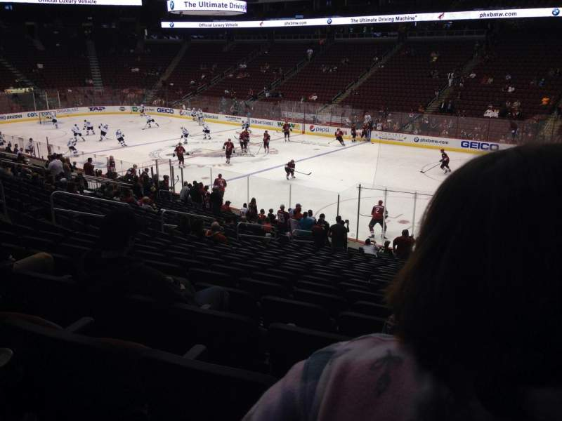Seating view for Gila River Arena Section 120 Row T Seat 5