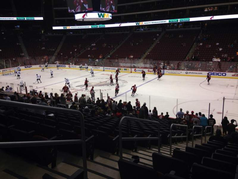 Seating view for Gila River Arena Section 120 Row T Seat 22