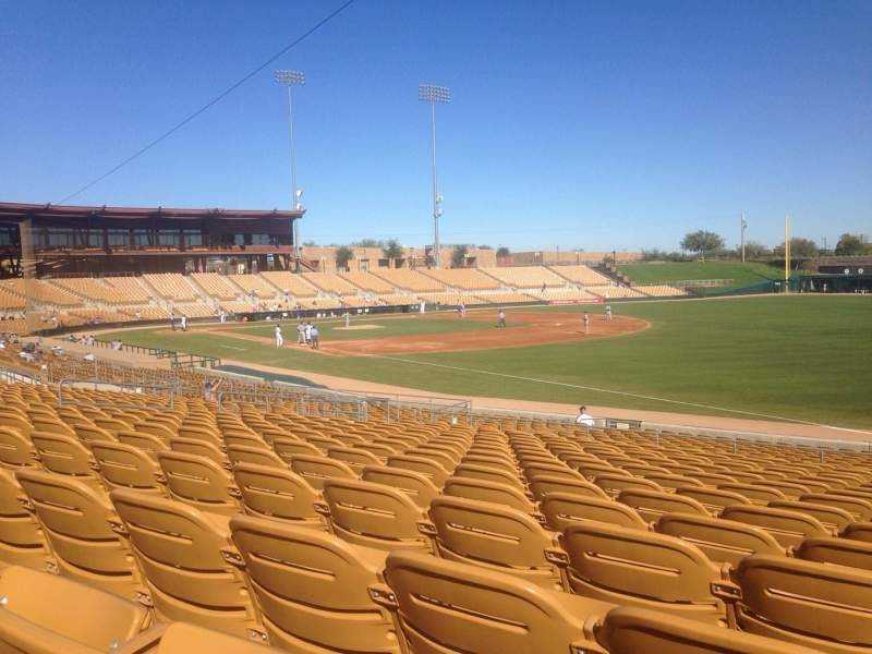 Seating view for Camelback Ranch Section 102 Row 15 Seat 1