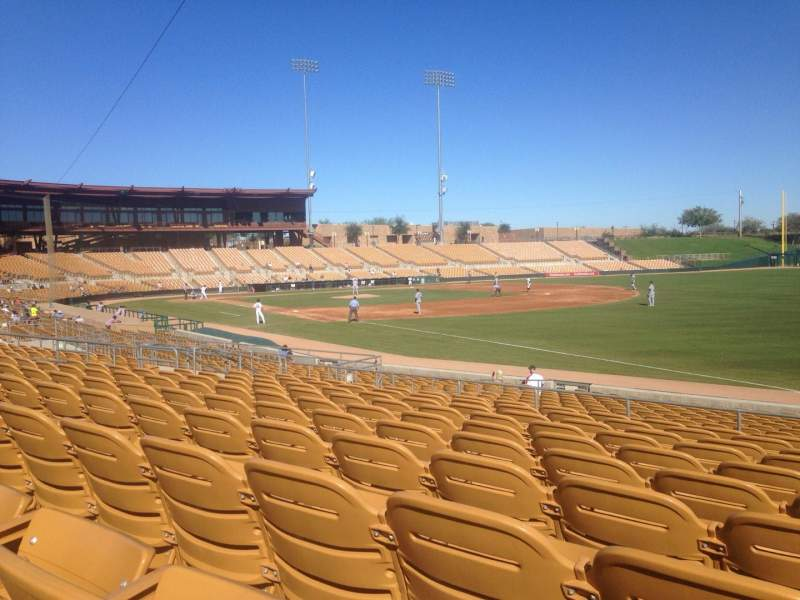 Seating view for Camelback Ranch Section 102 Row 10 Seat 1