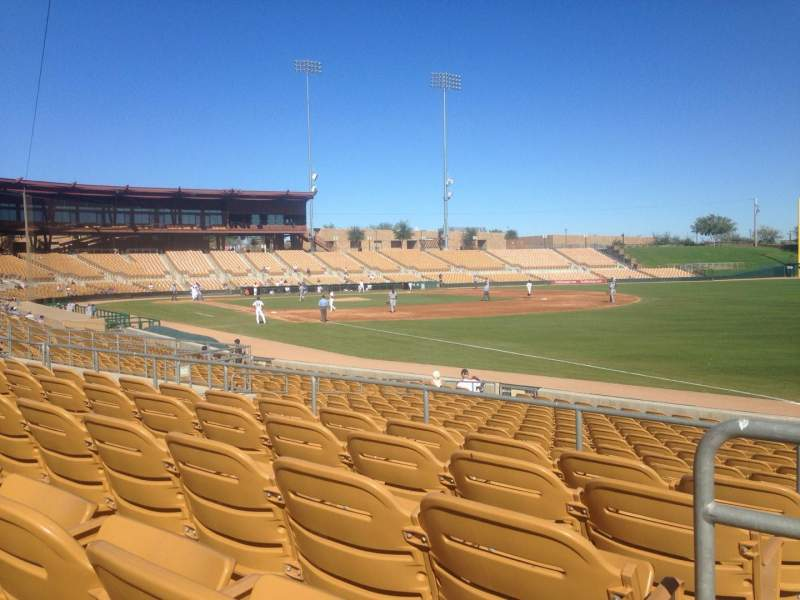 Seating view for Camelback Ranch Section 102 Row 5 Seat 1