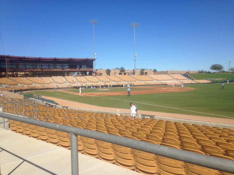 Seating view for Camelback Ranch Section 102 Row 1 Seat 3