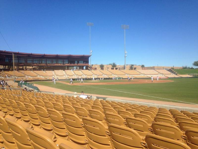 Seating view for Camelback Ranch Section 2 Row 10 Seat 1