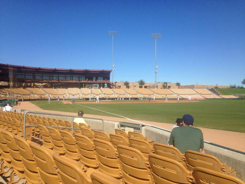 Seating view for Camelback Ranch Section 1 Row 5 Seat 1