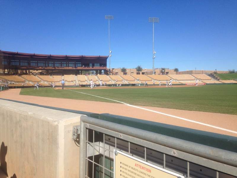 Seating view for Camelback Ranch Section 1 Row 1 Seat 1
