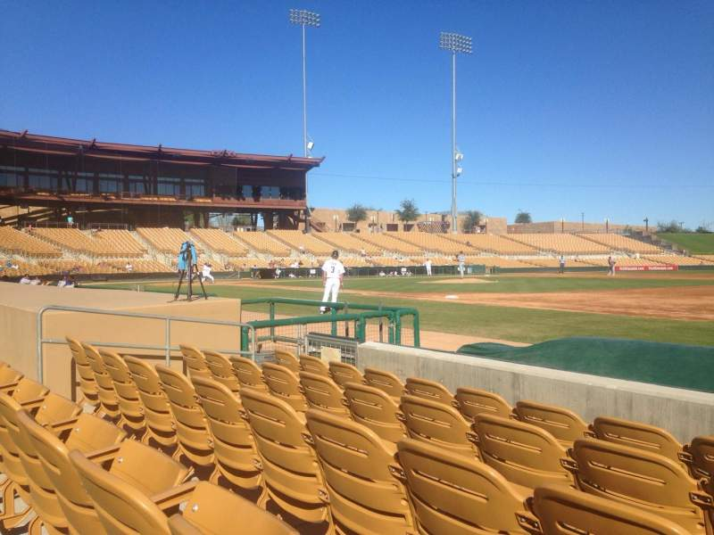 Seating view for Camelback Ranch Section 5 Row 5 Seat 5