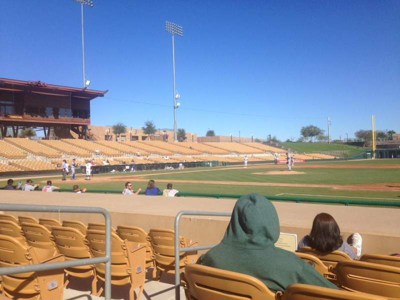 Seating view for Camelback Ranch Section 7 Row 8 Seat 8