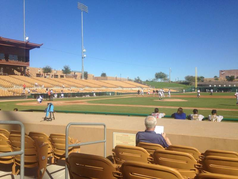 Seating view for Camelback Ranch Section 8 Row 8 Seat 8