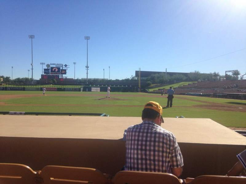 Seating view for Camelback Ranch Section 20 Row 6 Seat 3