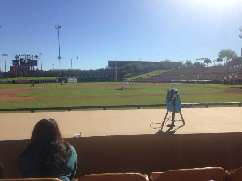 Seating view for Camelback Ranch Section 21 Row 6 Seat 6