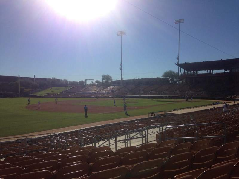 Seating view for Camelback Ranch Section 127 Row 9 Seat 9