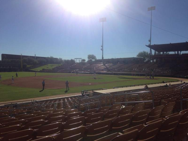 Seating view for Camelback Ranch Section 126 Row 9 Seat 9
