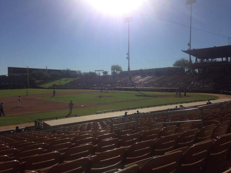 Seating view for Camelback Ranch Section 125 Row 9 Seat 9