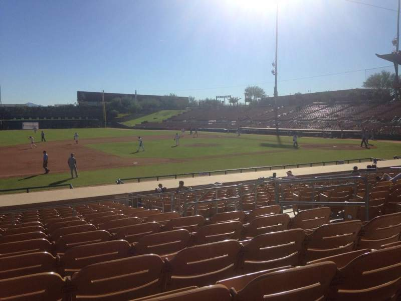 Seating view for Camelback Ranch Section 124 Row 9 Seat 6