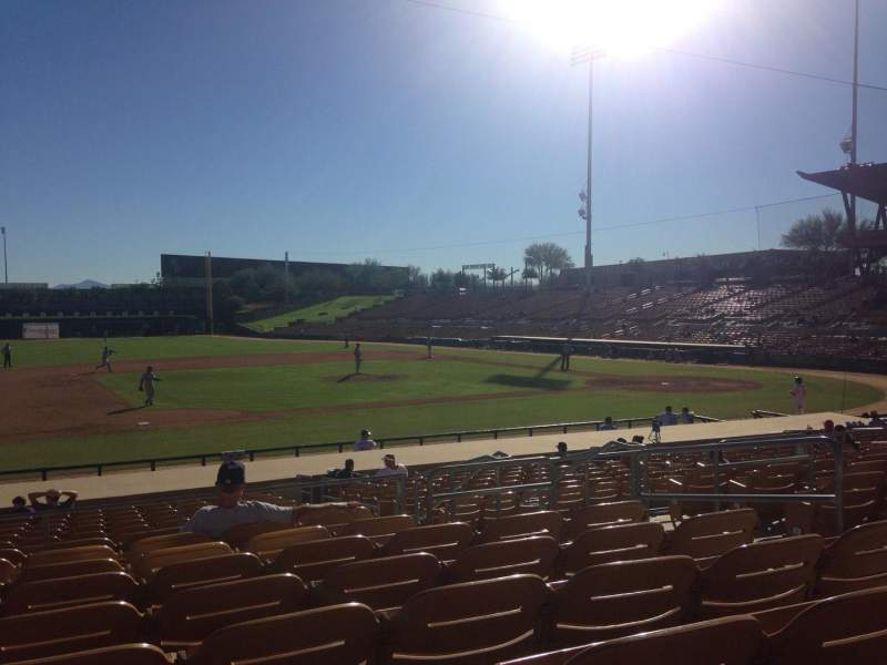 Seating view for Camelback Ranch Section 123 Row 9 Seat 6