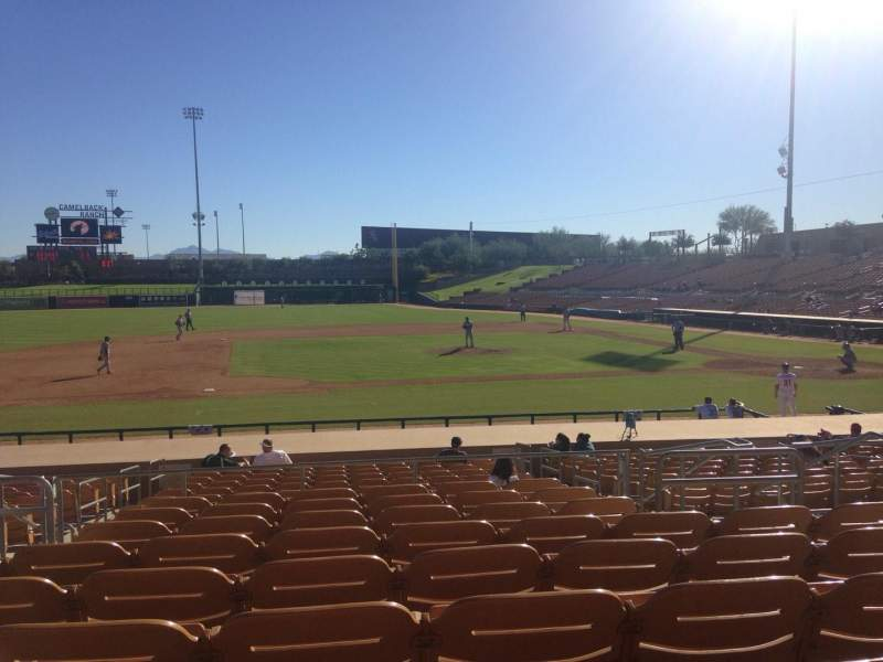 Seating view for Camelback Ranch Section 122 Row 9 Seat 6