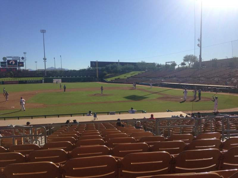 Seating view for Camelback Ranch Section 122 Row 9 Seat 5