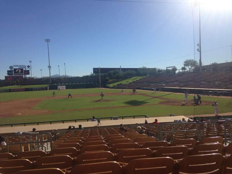 Seating view for Camelback Ranch Section 121 Row 9 Seat 5