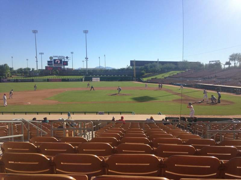 Seating view for Camelback Ranch Section 120 Row 9 Seat 5