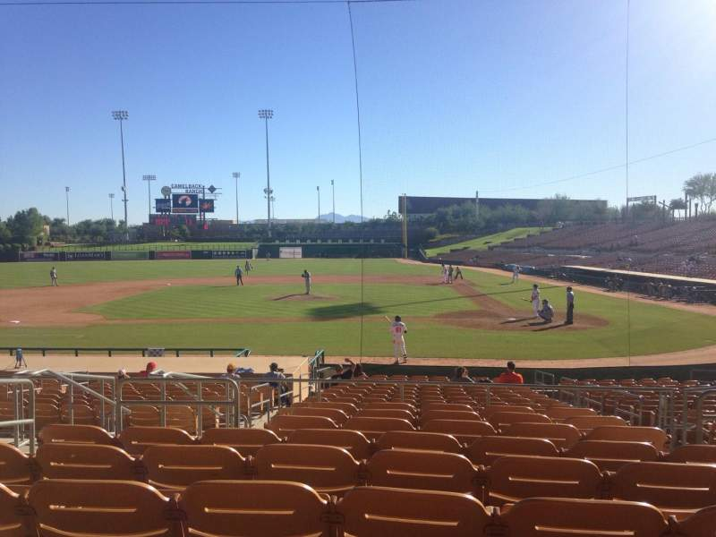 Seating view for Camelback Ranch Section 119 Row 9 Seat 6