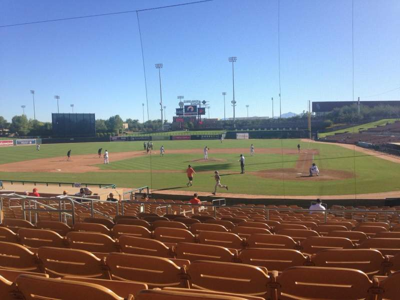 Seating view for Camelback Ranch Section 118 Row 9 Seat 9