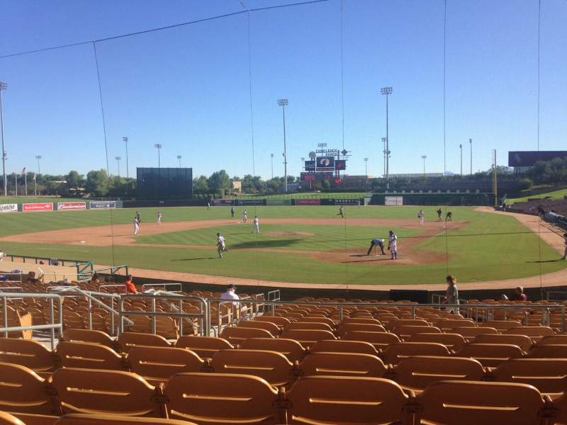 Seating view for Camelback Ranch Section 117 Row 9 Seat 7