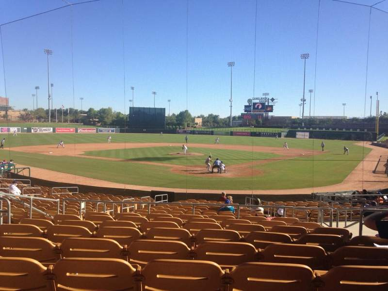 Seating view for Camelback Ranch Section 116 Row 9 Seat 7