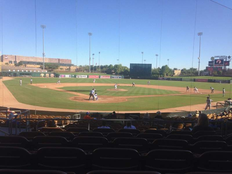 Seating view for Camelback Ranch Section 114 Row 7 Seat 9