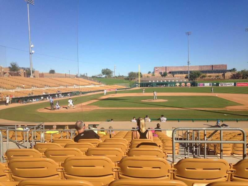 Seating view for Camelback Ranch Section 110 Row 7 Seat 3