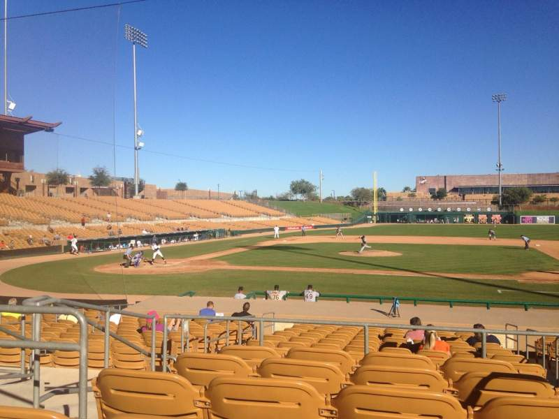 Seating view for Camelback Ranch Section 110 Row 6 Seat 4