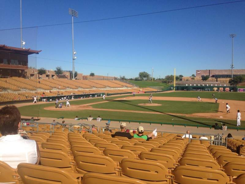 Seating view for Camelback Ranch Section 108 Row 12 Seat 2