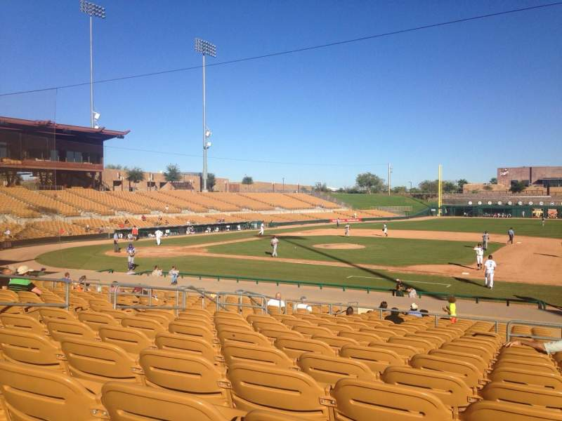 Seating view for Camelback Ranch Section 107 Row 12 Seat 2