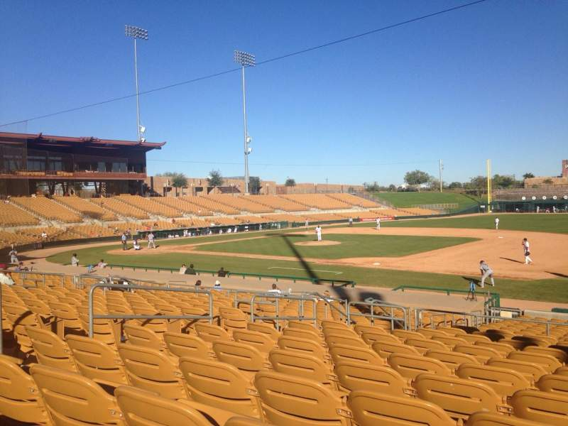 Seating view for Camelback Ranch Section 105 Row 12 Seat 9