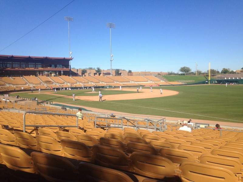Seating view for Camelback Ranch Section 102 Row 12 Seat 12