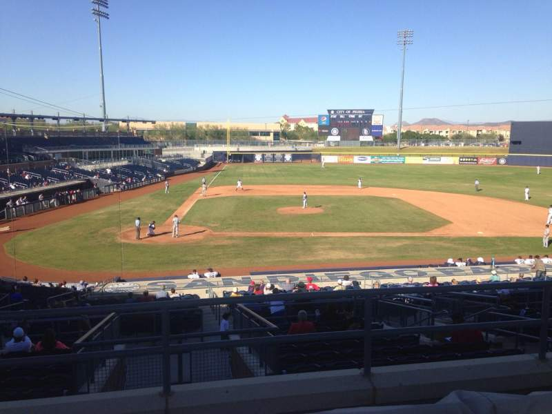 Seating view for Peoria Sports Complex Section 308 Row 4 Seat 13