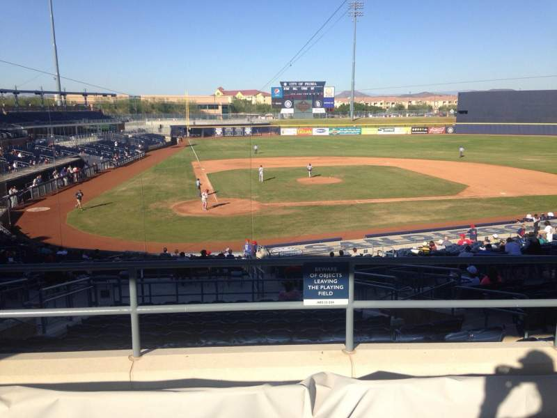 Seating view for Peoria Sports Complex Section 306 Row 4 Seat 6