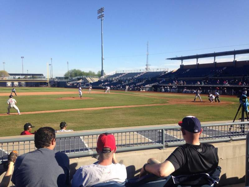Seating view for Peoria Sports Complex Section 111 Row K Seat 4