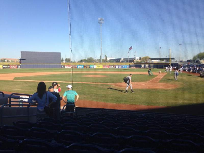 Seating view for Peoria Sports Complex Section 103 Row K Seat 7