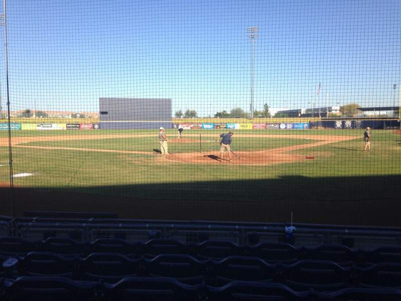 Seating view for Peoria Sports Complex Section 101 Row F Seat 5