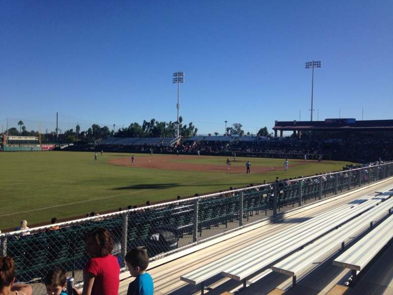 Seating view for Scottsdale Stadium Section H Row 6 Seat 6