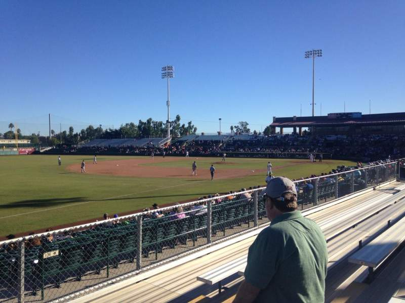 Seating view for Scottsdale Stadium Section G Row 6 Seat 6