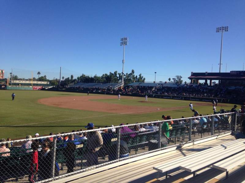 Seating view for Scottsdale Stadium Section F Row 6 Seat 6