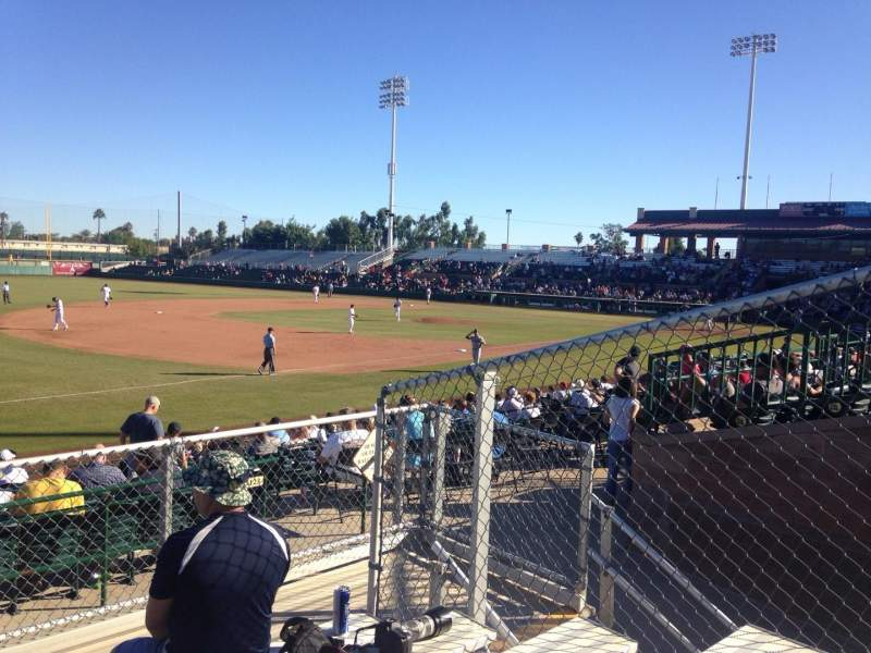 Seating view for Scottsdale Stadium Section E Row 6 Seat 6