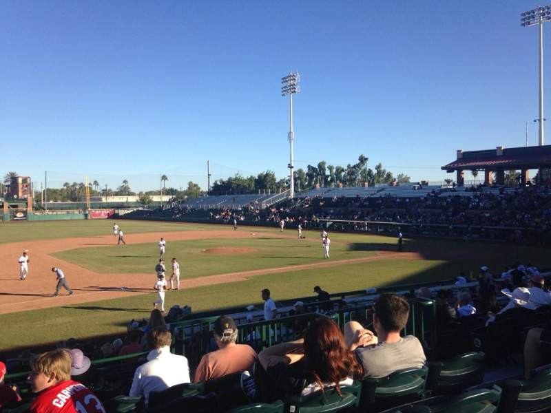 Seating view for Scottsdale Stadium Section 313 Row 2 Seat 7