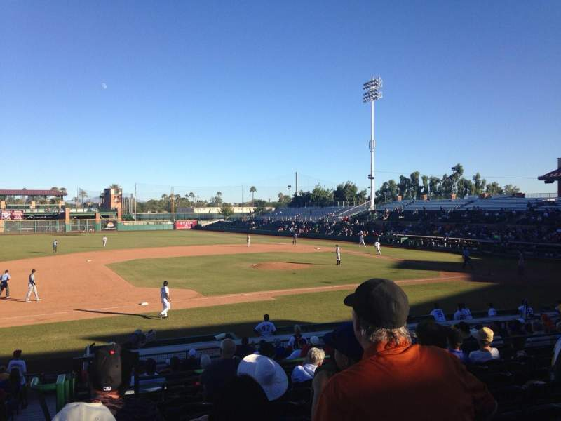 Seating view for Scottsdale Stadium Section 311 Row 2 Seat 25