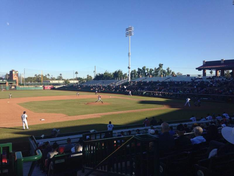 Seating view for Scottsdale Stadium Section 213 Row O Seat 1
