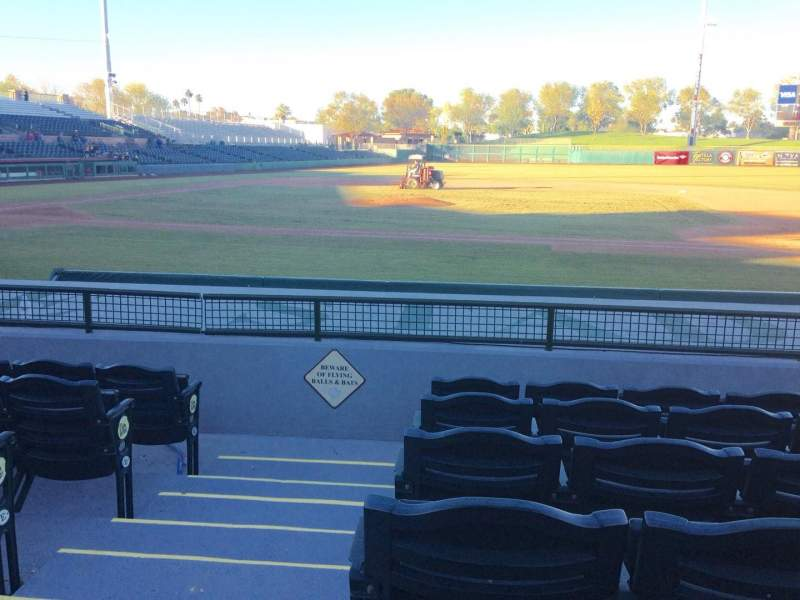 Seating view for Scottsdale Stadium Section 114 Row H Seat 1