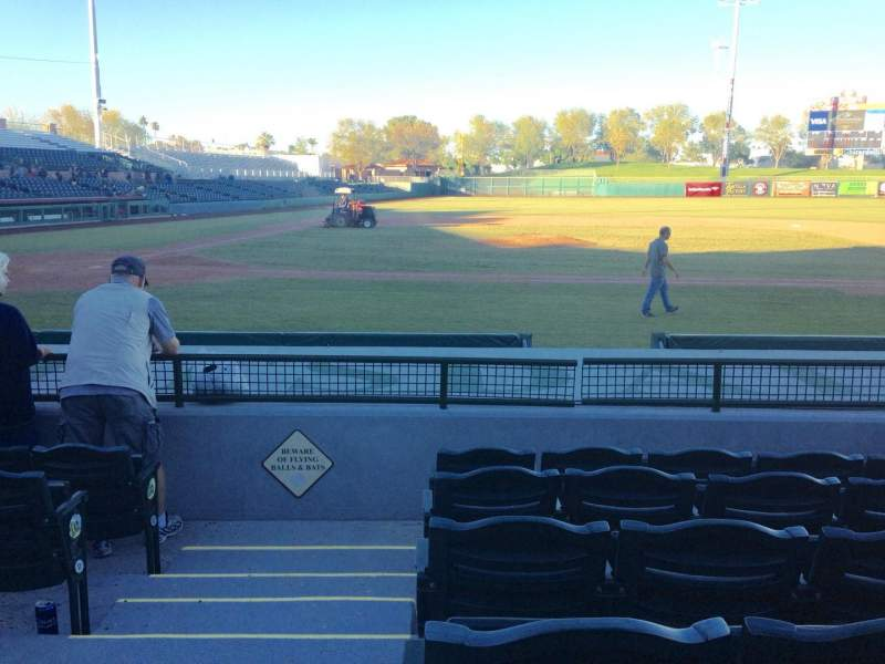 Seating view for Scottsdale Stadium Section 112 Row H Seat 1